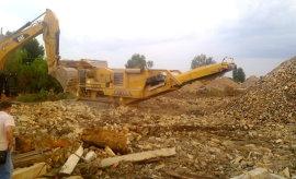Переработка строительных отходов.Дробильная установка.Нажмите для увеличения.Открывается в дополнительном окне